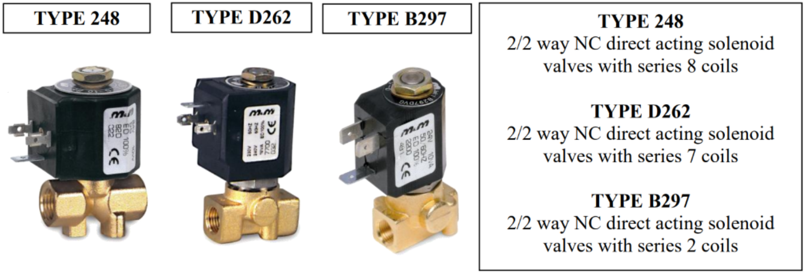 solenoid valves in foam markers; solenoid valves used